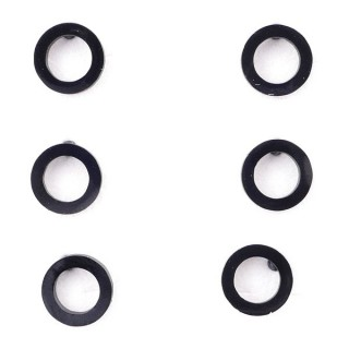36437-12 PACK OF 3 IDENTICAL PAIRS OF BLACK STAINLESS STEEL EARRINGS