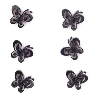 36437-13 PACK OF 3 IDENTICAL PAIRS OF BLACK STAINLESS STEEL EARRINGS