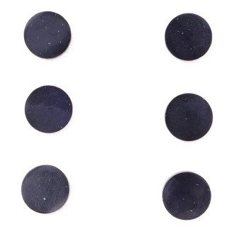 36437-15 PACK OF 3 IDENTICAL PAIRS OF BLACK STAINLESS STEEL EARRINGS