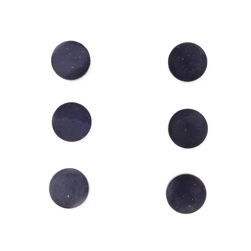36437-15 PACK OF 3 IDENTICAL PAIRS OF BLACK STAINLESS STEEL EARRINGS