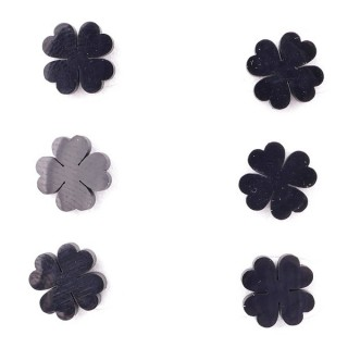 36437-25 PACK OF 3 IDENTICAL PAIRS OF BLACK STAINLESS STEEL EARRINGS