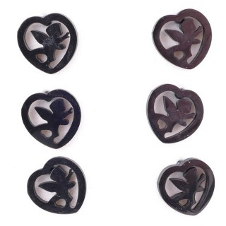 36437-27 PACK OF 3 IDENTICAL PAIRS OF BLACK STAINLESS STEEL EARRINGS
