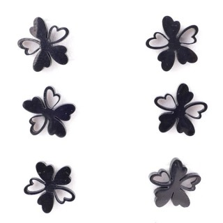 36437-28 PACK OF 3 IDENTICAL PAIRS OF BLACK STAINLESS STEEL EARRINGS