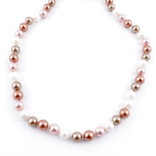 43064-17 SHELL PEARL 8 MM DIAMETER 45 CM LONG NECKLACE