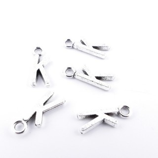 35402-11 PACK OF 30 FASHION JEWELLERY 16 MM TALL METAL LETTERS