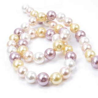 30862-06 STRING OF 46 BEADS OF 8 MM SHELL PEARL