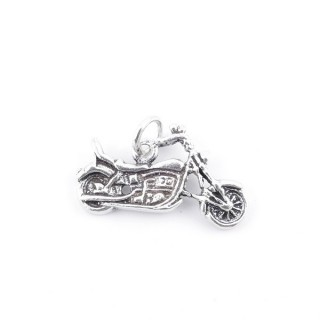 36575 STERLING SILVER 13 X 23 MM MOTORCYCLE SHAPED PENDANT