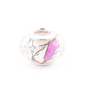 36546-07 RESIN AND SILVER 15 MM CHARM FOR BRACELET