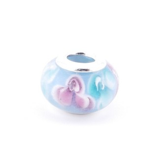 36546-11 RESIN AND SILVER 15 MM CHARM FOR BRACELET
