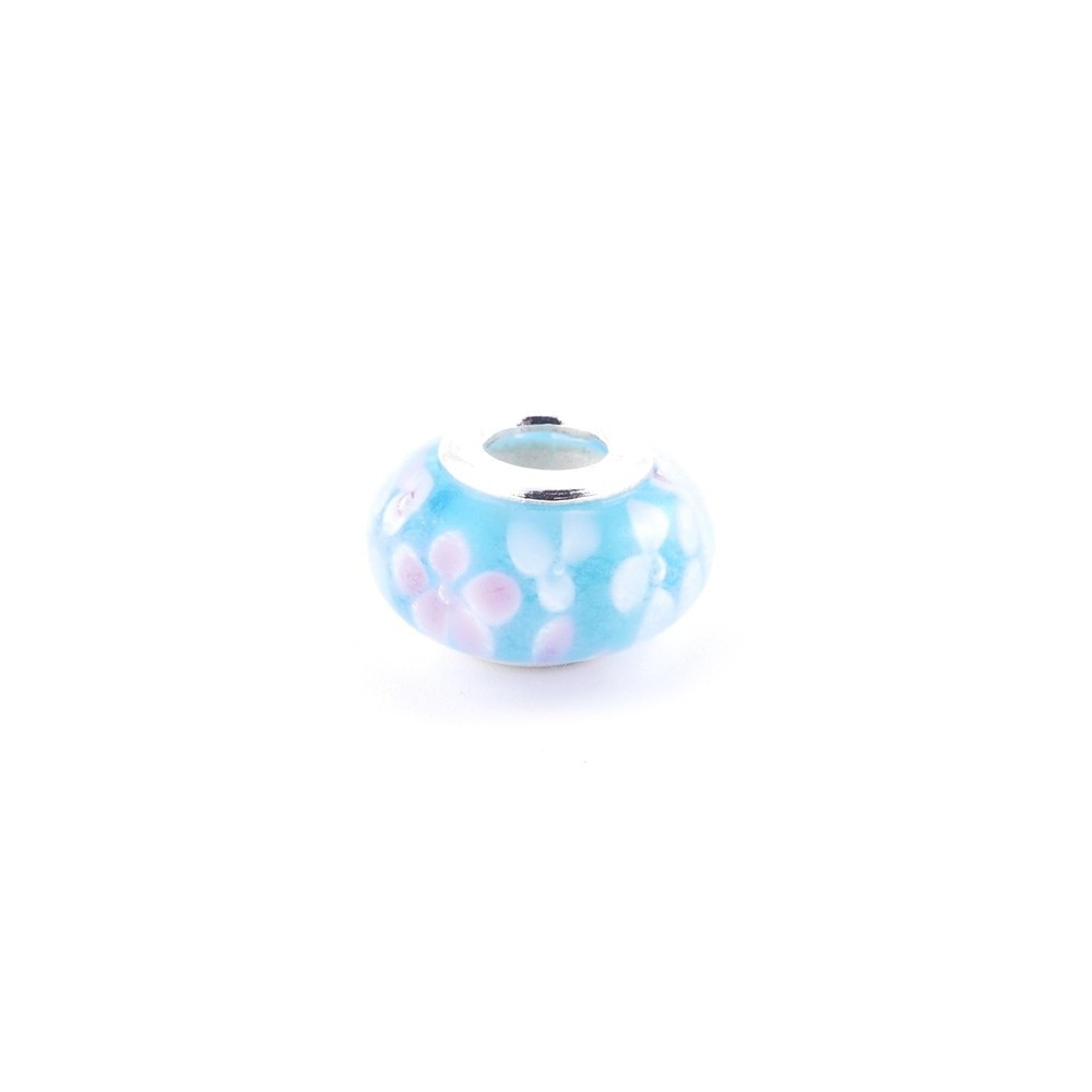 36546-13 RESIN AND SILVER 15 MM CHARM FOR BRACELET