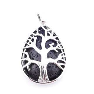 36104-21 TREE OFL IFE 35 X 26 MM PENDANT WITH STONE IN LAVA