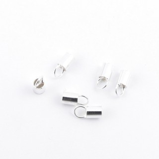 35625 PACK OF 20 TERMINALS IN SILVER WITH 2.5 MM HOLE