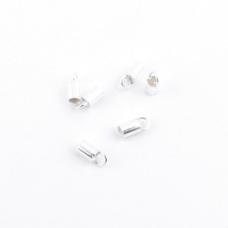 35624 PACK OF 20 TERMINALS IN SILVER WITH 2 MM HOLE