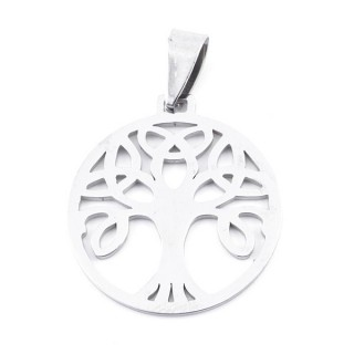 36162-04 STAINLESS STEEL 26 MM TREE OF LIFE PENDANT