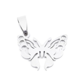 36162-16 BUTTERFLY SHAPED 20 X 27 MM STAINLESS STEEL PENDANT