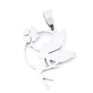 36162-22 STAINLESS STEEL 29 X 27 MM TINKERBELL PENDANT