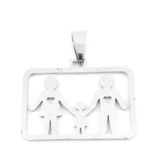 36162-32 STAINLESS STEEL 25 X 32 MM PENDANT WITH FAMILY