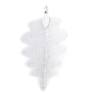 36150-02 FASHION JEWELLERY METAL LEAF SHAPED 60 X 30 MM APPROXIMATE SIZED PENDANT