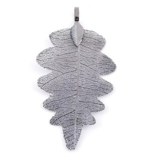 36150-07 FASHION JEWELLERY METAL LEAF SHAPED 60 X 30 MM APPROXIMATE SIZED PENDANT
