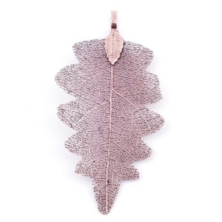 36150-08 FASHION JEWELLERY METAL LEAF SHAPED 60 X 30 MM APPROXIMATE SIZED PENDANT