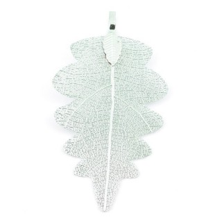 36150-09 FASHION JEWELLERY METAL LEAF SHAPED 60 X 30 MM APPROXIMATE SIZED PENDANT