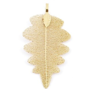 36150-11 FASHION JEWELLERY METAL LEAF SHAPED 60 X 30 MM APPROXIMATE SIZED PENDANT