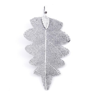 36150-12 FASHION JEWELLERY METAL LEAF SHAPED 60 X 30 MM APPROXIMATE SIZED PENDANT