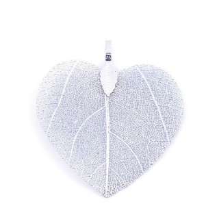 36149-03 FASHION JEWELLERY METAL LEAF SHAPED 48 X 41 MM APPROXIMATE SIZED PENDANT