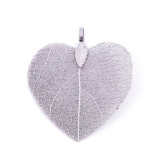 36149-04 FASHION JEWELLERY METAL LEAF SHAPED 48 X 41 MM APPROXIMATE SIZED PENDANT