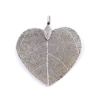36149-05 FASHION JEWELLERY METAL LEAF SHAPED 48 X 41 MM APPROXIMATE SIZED PENDANT