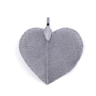 36149-07 FASHION JEWELLERY METAL LEAF SHAPED 48 X 41 MM APPROXIMATE SIZED PENDANT