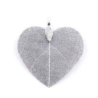 36149-12 FASHION JEWELLERY METAL LEAF SHAPED 48 X 41 MM APPROXIMATE SIZED PENDANT
