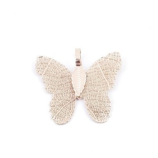 36152-01 FASHION JEWELLERY METAL BUTTERFLY SHAPED 28 X 30 MM APPROXIMATE SIZED PENDANT