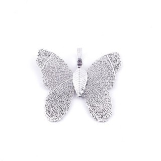 36152-12 FASHION JEWELLERY METAL BUTTERFLY SHAPED 28 X 30 MM APPROXIMATE SIZED PENDANT