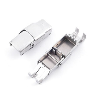 35674 PACK OF 5 STAINLESS STEEL 25 X 12 MM CLASPS FOR 8 X 3 MM LEATHER