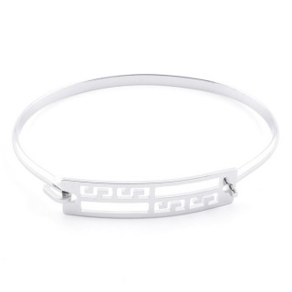 32311-40 STAINLESS STEEL BANGLE WITH CHARM