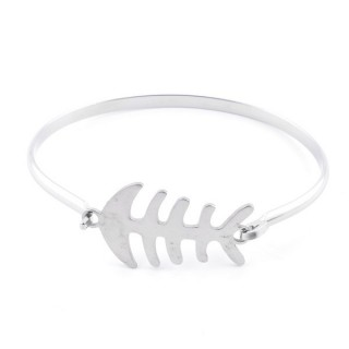 32311-43 STAINLESS STEEL BANGLE WITH CHARM