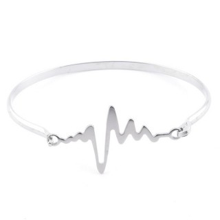 32311-45 STAINLESS STEEL BANGLE WITH CHARM