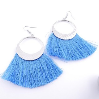 36234-08 FASHION JEWELLERY METAL EARRINGS WITH 3 CM TASSLE