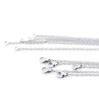 36380 PACK OF 10 STAINLESS STEEL 2 MM X 45 CM CHAINS