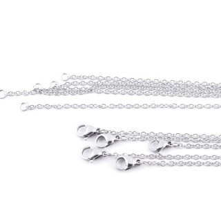 36381 PACK OF 10 STAINLESS STEEL 2 MM X 50 CM CHAINS