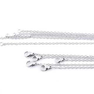 36382 PACK OF 5 STAINLESS STEEL 2 MM X 60 CM CHAINS