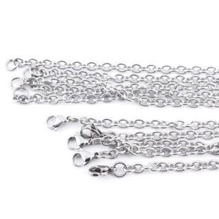 36386 PACK OF 5 STAINLESS STEEL 4 MM X 45 CM CHAINS