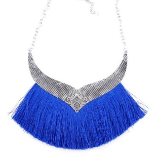 36239-01 FASHION JEWELRY METAL NECKLACE WITH TASSEL