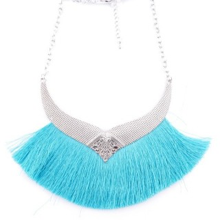 36239-04 FASHION JEWELRY METAL NECKLACE WITH TASSEL