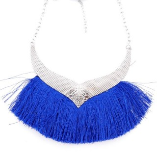 36239-05 FASHION JEWELRY METAL NECKLACE WITH TASSEL
