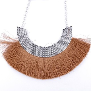 36239-08 FASHION JEWELRY METAL NECKLACE WITH TASSEL