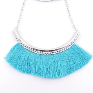 36239-10 FASHION JEWELRY METAL NECKLACE WITH TASSEL
