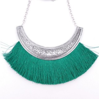 36239-12 FASHION JEWELRY METAL NECKLACE WITH TASSEL