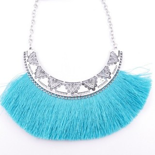 36239-15 FASHION JEWELRY METAL NECKLACE WITH TASSEL